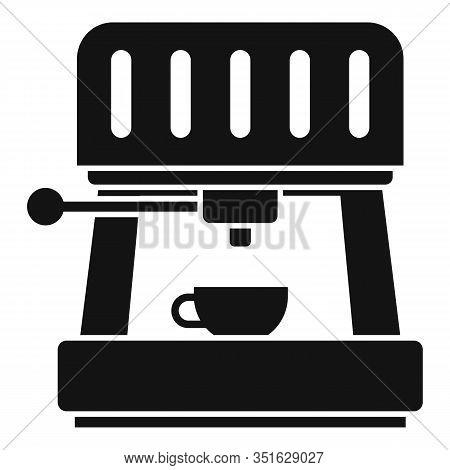 Cappuccino Machine Icon. Simple Illustration Of Cappuccino Machine Vector Icon For Web Design Isolat