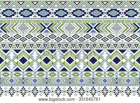 Sacral Tribal Ethnic Motifs Geometric Vector Background. Doodle Geometric Shapes Sprites Tribal Moti