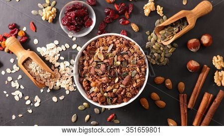 granola and cereal, dry fruit- health food