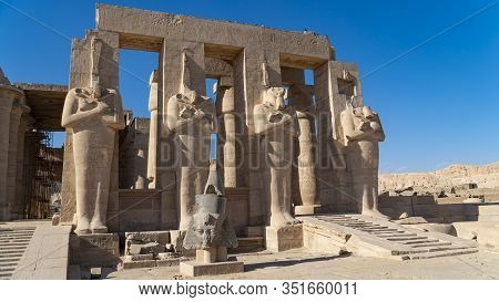 The Ramesseum Is The Memorial Temple Or Mortuary Temple Of Pharaoh Ramesses Ii. It Is Located In The