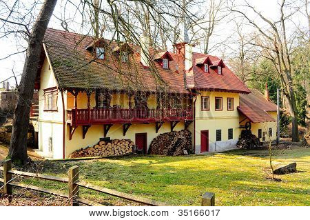 Typical country estate near Prague