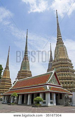 The pagoda at Wat Pho, Bangkok, Thailand.