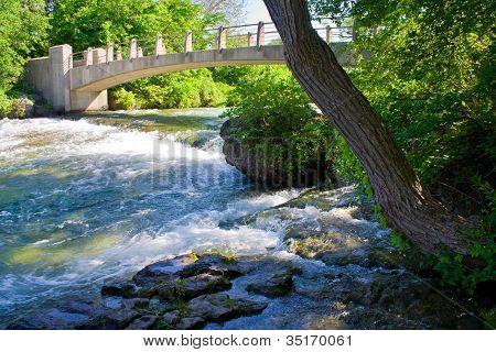 Bridge over white water