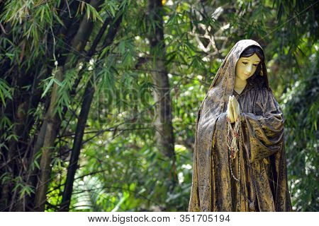 Rizal, Ph - Nov. 30: Virgin Mary Statue At Parish Of The Immaculate Heart Of Mary On November 30, 20