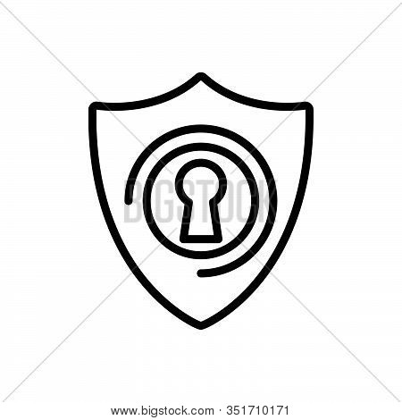 Black Line Icon For Protection Conservation Insurance Preservation Safeguard Safety Security Shelter
