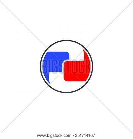 Letter Pd Symbol Linked Geometric Logo Vector