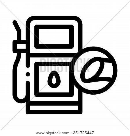 Cane Fuel Station Icon Vector. Outline Cane Fuel Station Sign. Isolated Contour Symbol Illustration
