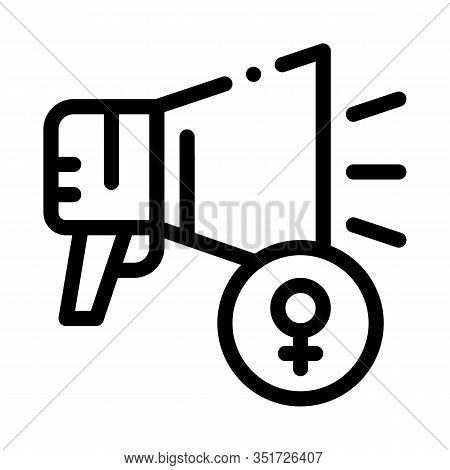 Loudspeaker Icon Vector. Outline Loudspeaker Sign. Isolated Contour Symbol Illustration