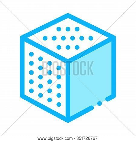 Refined Cube Icon Vector. Outline Refined Cube Sign. Isolated Contour Symbol Illustration
