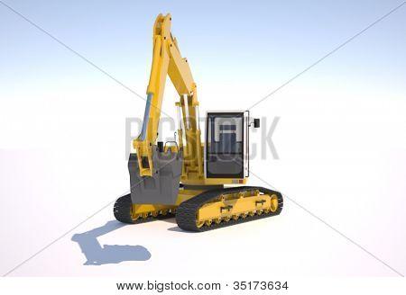 Excavator bucket close up