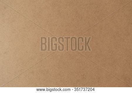 Cardboard Brown Background. Kraft Paper Texture Sheet Horizontal Backdrop
