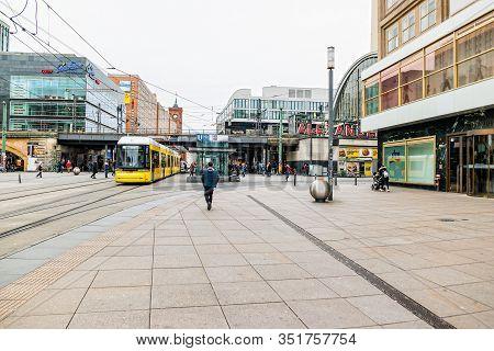 Street Life At Alexanderplatz Square In Berlin.