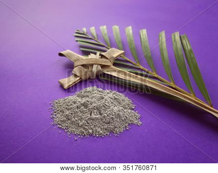 Good Friday, Palm Sunday, Ash Wednesday, Lent Season And Holy Week Concept.  Christian Crosses Made