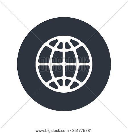 Globe Graphic Icon. Web Sign Isolated On White Background. Internet Symbol. Vector Illustration