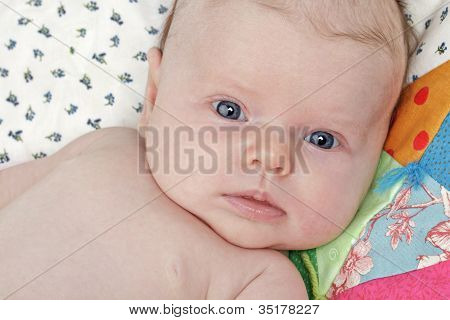 Adorable Bright-eyed Infant