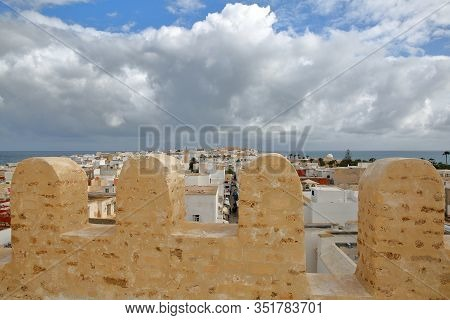 The City Of Mahdia, Tunisia, Viewed From The Top Of Skifa El Kahla, A Fortified Ottoman Gate Located