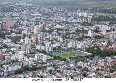 Salta, Argentina - November 11, 2015: Stadium And Skyline View From Cerro San Bernardo.
