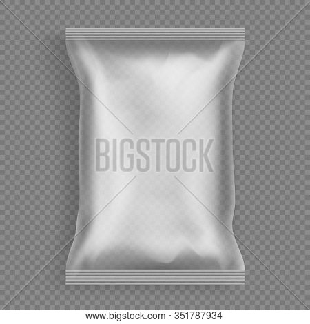Hermetic Sealed Polythene Or Plastic Disposable Packet 3d Realistic Mockup Isolated On Background. G