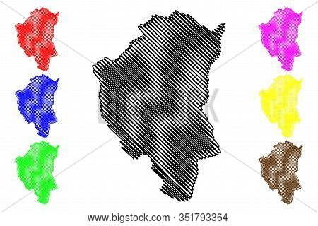 North Backa District (republic Of Serbia, Districts In Vojvodina) Map Vector Illustration, Scribble