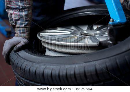 Tire Change Closeup