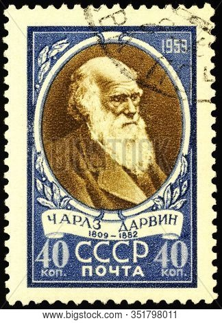 Moscow, Russia - February 20, 2020: Stamp Printed In Ussr (russia), Shows Portrait Of Charles Robert