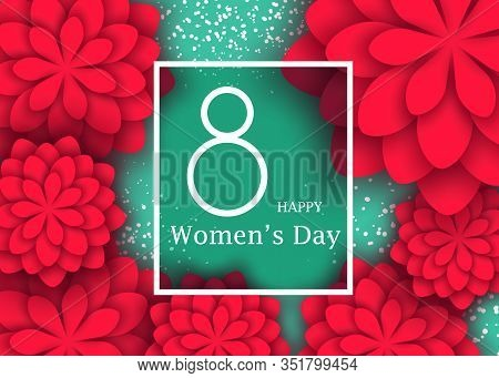 March 8 flower card. International Women's day. Happy International Women's Day. Woman. Womens Day. Womens Day background. Womens Day poster. Women's Day illustration. Womans Day banners. Women's Month Vectors. Woman Day Vector Illustration. International