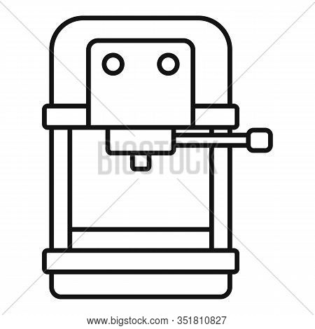 Automatic Coffee Machine Icon. Outline Automatic Coffee Machine Vector Icon For Web Design Isolated
