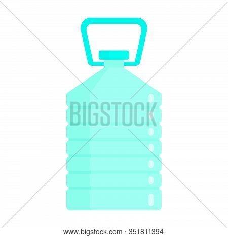 Flat Plastic Drink Purity Water Bottle Mockup Isolated On White Background Vector Illustration. Elem