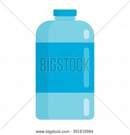 Flat Plastic Drink Breezy Water Bottle Mockup Isolated On White Background Vector Illustration. Elem