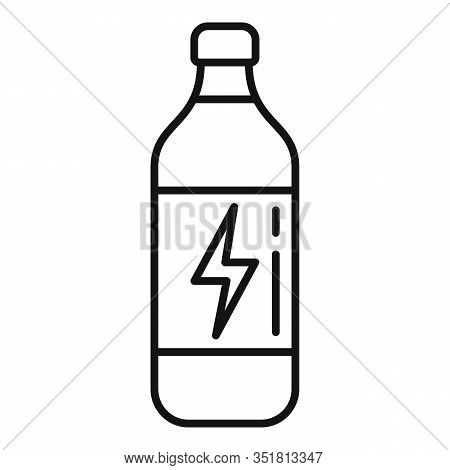 Tonic Energy Drink Icon. Outline Tonic Energy Drink Vector Icon For Web Design Isolated On White Bac