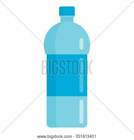 Flat Plastic Drink Sport Mineral Water Bottle Mockup Isolated On White Background Vector Illustratio