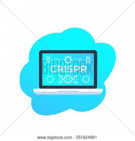 Crispr, Genome Editing Technology Vector Icon, Eps 10 File, Easy To Edit