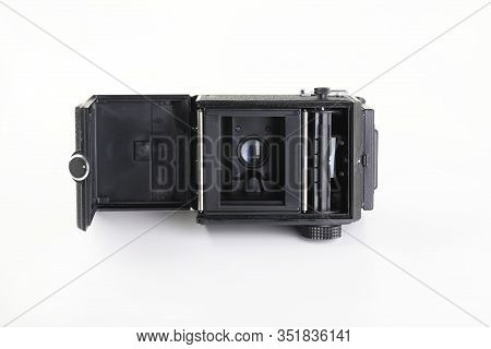 The Old Soviet Medium Format Film Tlr Camera Lubitel 166 Universal, Released At The Lomo Factory In
