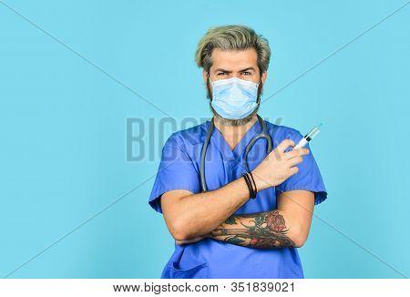 Flu Or Influenza. Immunity And Health Care. Virus Infection Test. Hpv Vaccine. Copy Space. Coronavir