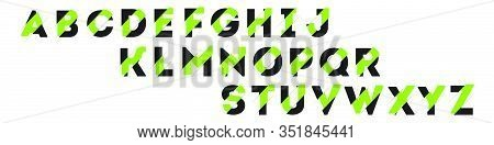 Abstract Shift Font. Vector Illustration. Web Design.