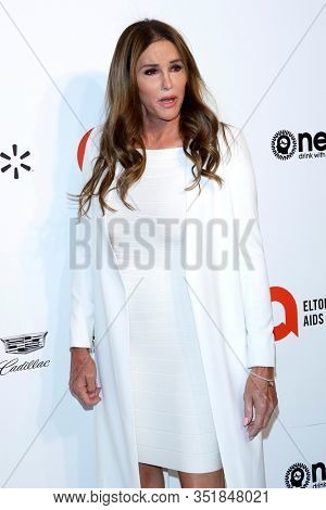 LOS ANGELES - FEB 9:  Caitlyn Jenner at the 28th Elton John Aids Foundation Viewing Party at the West Hollywood Park on February 9, 2020 in West Hollywood, CA