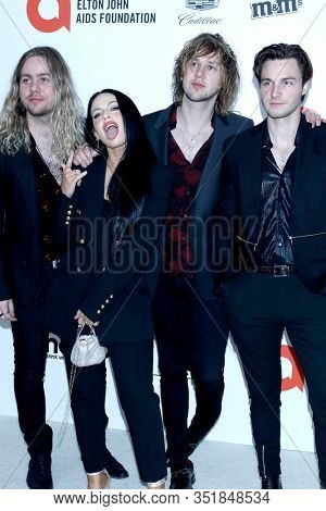 LOS ANGELES - FEB 9:  The Struts at the 28th Elton John Aids Foundation Viewing Party at the West Hollywood Park on February 9, 2020 in West Hollywood, CA