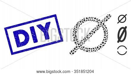 Collage Nothing And Grunge Rectangle Stamp Watermark With Diy Phrase. Mosaic Vector Nothing Is Creat