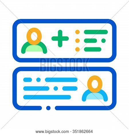 Correspondence Icon Vector. Outline Correspondence Sign. Isolated Contour Symbol Illustration
