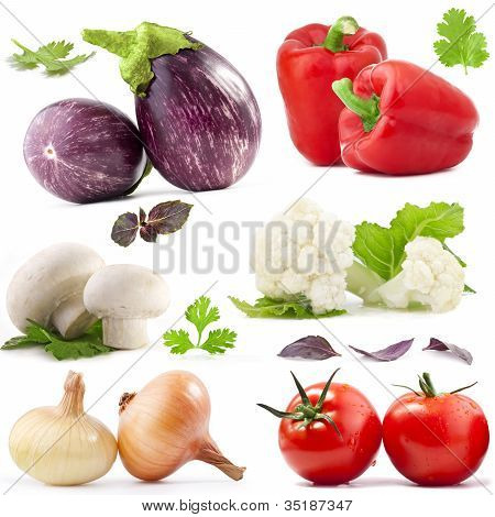 Vegetables, with clipping paths
