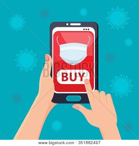 Coronavirus 2019-ncov In China. People Buy A Medical Protective Mask Through An Online App. Online P