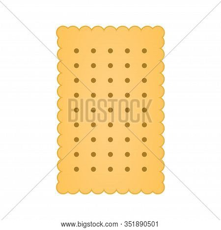Biscuit Icon Vector Isolated On White Background