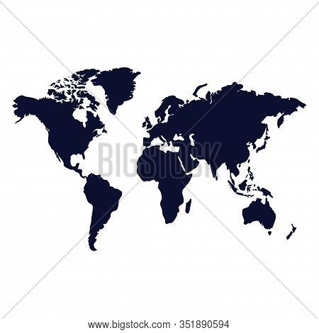 World Map Vector Isolated On White Background