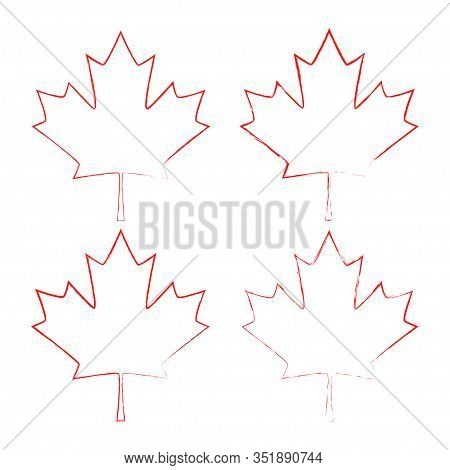 Maple Leaf Vector. Canada Symbol Maple Leaf Icon