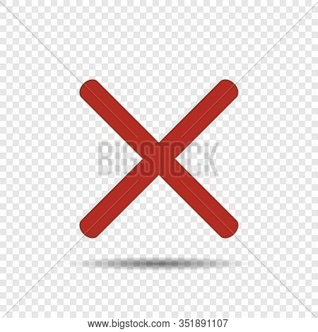 Red Cross Icon Vector Isolated. Vector Illustration