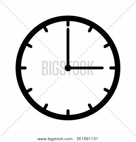 Clock Icon Vector Isolated On White Background