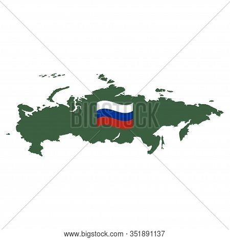 Russia Map Vector Isolated On White Background