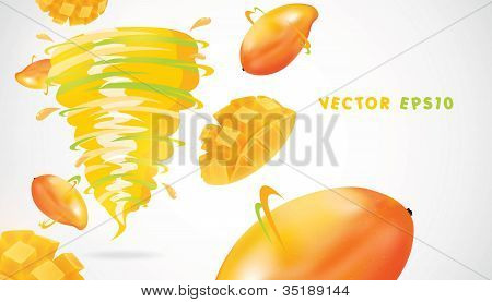 Mango with juicy twister