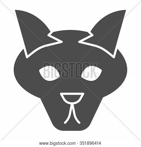 Wolf Head Solid Icon. Coyote, Wild Animal Face, Simple Silhouette. Animals Vector Design Concept, Gl