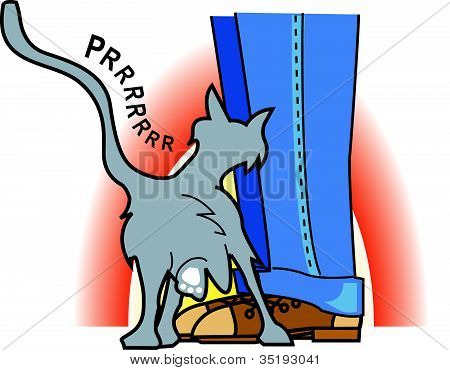 Loving Cat Clip Art